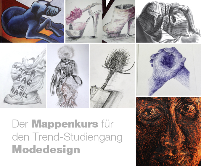 Mappenvorbereitung Modedesign
