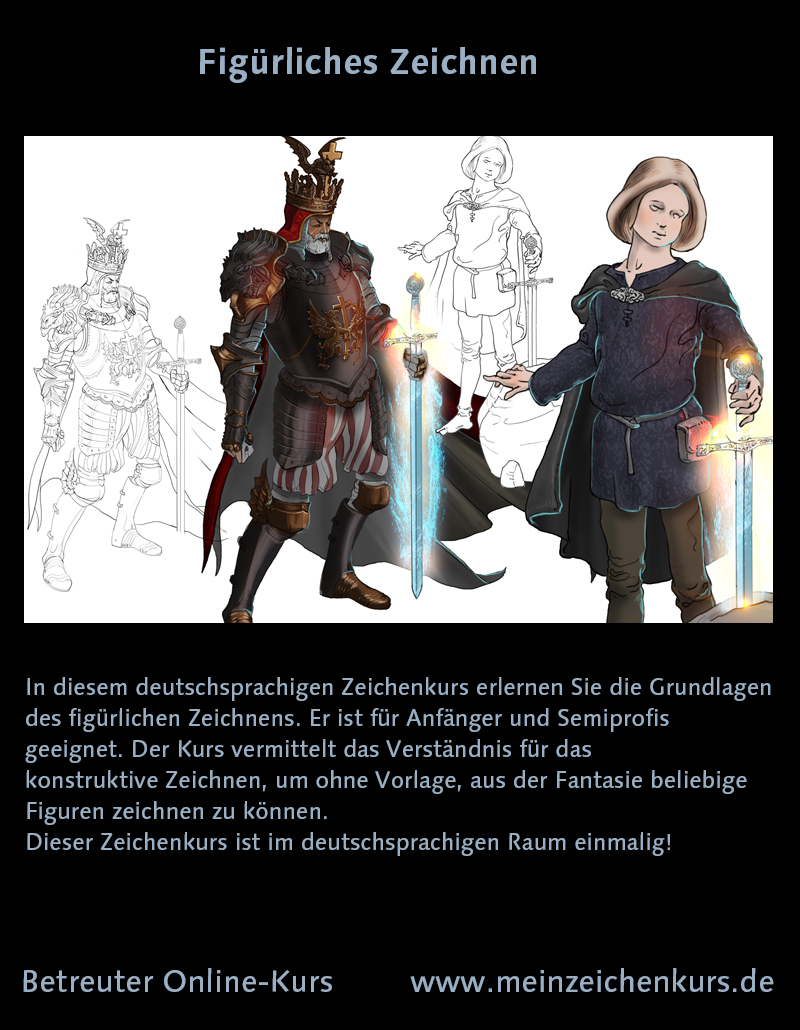 Zeichenkurs für König Arthur